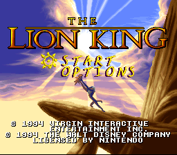 The Lion King for SNES